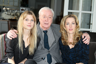 Clemence Poesy, Sir Michael Caine, Gillian Anderson