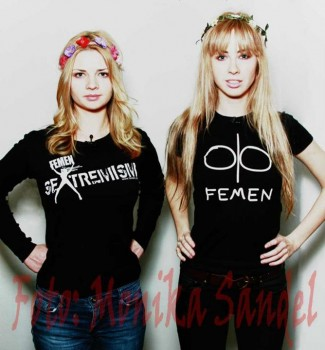 Femen - Alexandra Shevchenko und Klara Martens